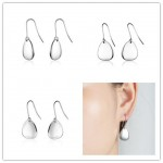 Sterling Silver Abstract Butterfly Design Dangle Drop Earrings For Sensitive Ears