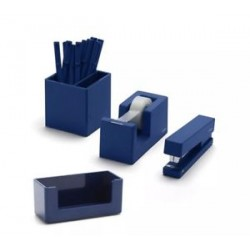 Poppin Fresh Start Desk Collection 10Pc Set Navy Blue Desk Organizer Set
