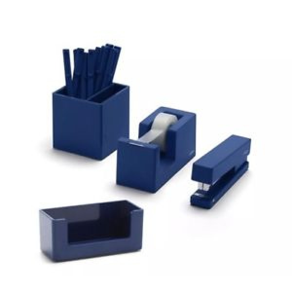 Poppin Fresh Start Desk Collection 10Pc Set Navy Blue Desk Organizer Set
