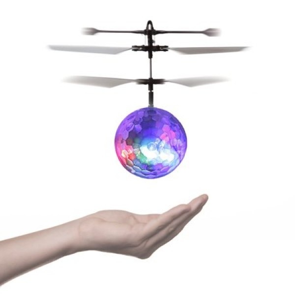 RC Toy,OCDAY RC Flying Ball, RC infrared Induction Helicopter Ball Built-in Shinning LED Lighting Crystal Ball for Kids, Teenagers Colorful Flyings for Kid's Toy,Kids' Gift