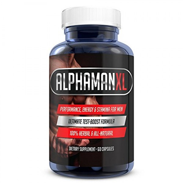 AlphaMAN XL Male Pills | 2+ Inches in 60 days - Enlargement Booster Increases Energy- 1 Month Supply, 60 Capsules