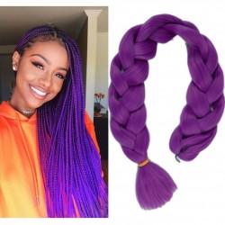 "Lady Miranda Pure Color Jumbo Braid Synthetic Hair Extensions 41"" 165 g / Pc (Purple3)"