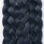 "Lady Miranda Pure Color Jumbo Braid Synthetic Hair Extensions 41"" 165 g / Piece  (Blue 3)"