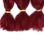 """Lady Miranda Pure Color Jumbo Braid Synthetic Hair Extensions 41"""" 165 g / Piece (Burgundy3)"""