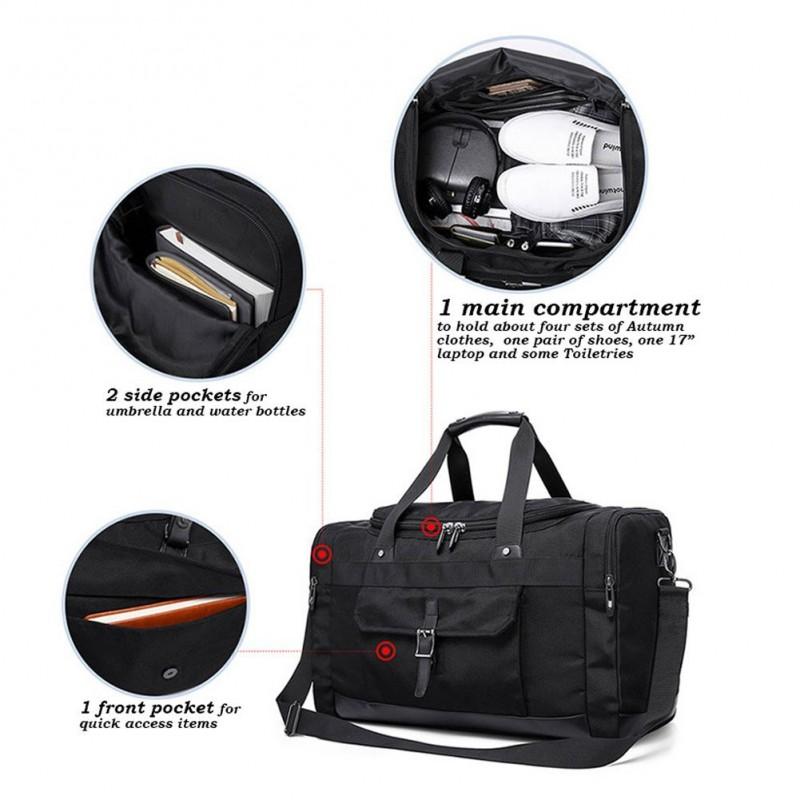 c9ff64ec1198 ... Travel Duffel Bag 21   Large Unisex Weekender Bag TSA Friendly Carry-on  Luggage ...