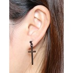 1-3 Pairs Stainless Steel Earrings Cross Dangle Studs Earrings piercing Jewelry For Men and Women