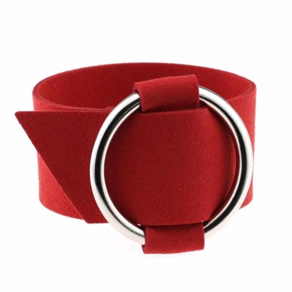 2017 Charm Wide Black Velvet Leather Bracelets Multicolor Metal Silver Big Circle Wrap Bracelet Femme Wristband Jewelry