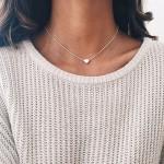 2017 New Simple Women circle Gold Chain Choker Necklace Chocker Jewelry Collana Bijoux Fashion Jewelry Gift #250975