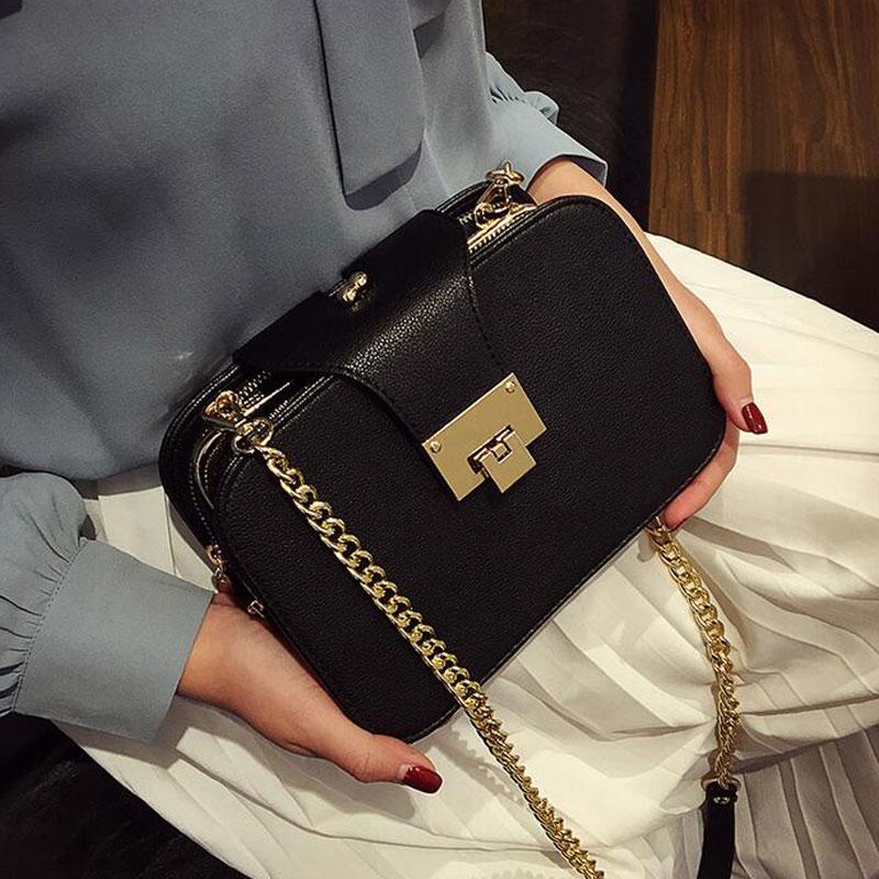 03fdf660f3 2018 Spring New Fashion Women Shoulder Bag Chain Strap Flap Designer  Handbags Clutch Bag Ladies Messenger ...