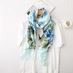 2018 luxury brand summer women scarf fashion quality soft silk scarves female shawls Foulard Beach cover-ups wraps silk bandana