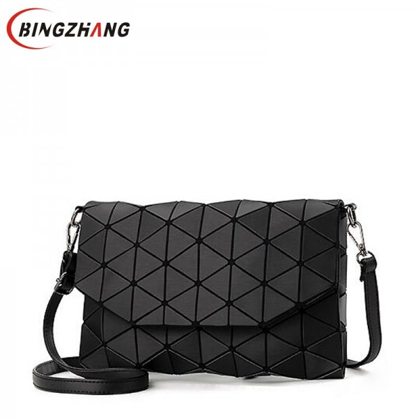 2018 new small solid plaid geometric lingge envelope handbag women clutch ladies purse crossbody messenger shoulder bags L4-3253