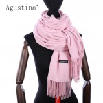 2018 solid cashmere scarfs luxury brand high quality scarf women fashion pashimina for ladies scarves wool womens shawls stoles