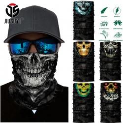 3D Seamless Balaclava Magic Scarf Neck Face Mask Ghost Skull Skeleton Head Bandana Shield Headband Headwear Bandana Men Bicycle