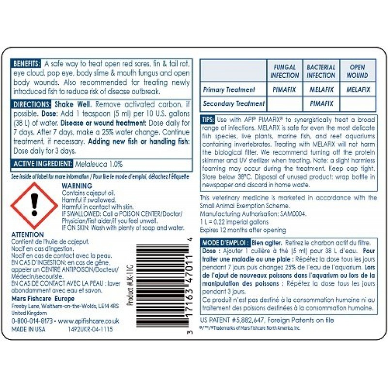 API MELAFIX Fish Bacterial Infection Remedy