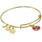 Alex and Ani Bangle Bar Imitation Birthstone Bangle Bracelet, 2.75""