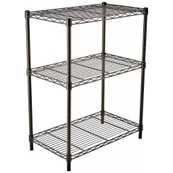 Basics 3-Shelf Shelving Unit - Black