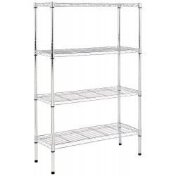 Basics 4-Shelf Shelving Unit - Chrome