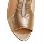 BONJOMARISA 2018 Summer New Elegant Brand Mesh Sandals Metal Decoration Peep Toe Shoes Woman Low Heels Plus Size 34-48 Footwear