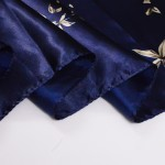 [BYSIFA] Navy Blue Chinese Roses Large Square Scarves New Female Elegant Large Silk Scarf Fashion Ladies Accessories 90*90cm