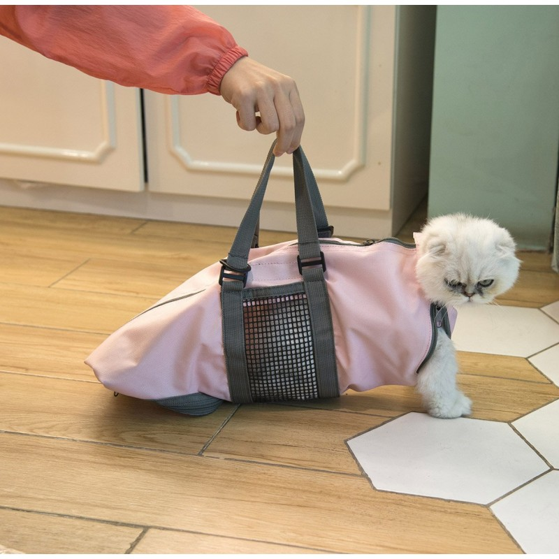 7492c28b805 Cinf Cat Pet Supply Grooming Bag Restraint Bag Cats Nail Clipping Cleaning Grooming  Bag