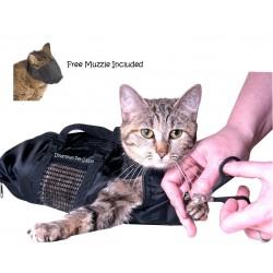 Downtown Pet Supply Cat Grooming Bag - Cat Restraint Bag, Cat Grooming Accessory + FREE Cat Muzzle