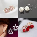 E351 2018 new hot fashion chic Austrian crystal rhinestone earrings for women cheap wholesale jewelry free shipping