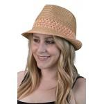5841e3c8d Funky Junque UPF50+ Adjustable Multicolor Woven Pattern Short Brim Fedora  Hat