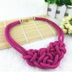 Hot Sale Cotton Choker Statement Necklace Collares Necklaces & Pendants Women Gift Kolye Fashion Jewelry