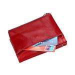 JR&JA Genuine leather RFID Blocking Bifoldwallet Large Capacity Card Case Purse