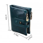 JR&JA Genuine leather RFID Blocking Bifold wallet Large Capacity Card Case Purse