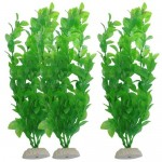 Jardin Plastic Emulational Decorative Long Leaf Plant for Aquarium, 20cm, Green