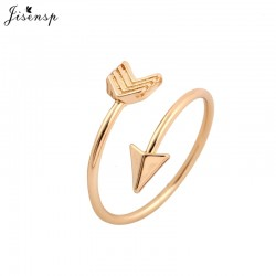 Jisensp New Fashion Trendy Rings Brass Small Arrow Ring Cute Wedding Shiny Rings for Women Gift in Party Hot Sale Finger Rings