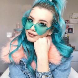 Kaleidoscope Glasses Love Heart Sunglasses Women Rimless Frame Eyewears male Female Lolita Hearts Shape Ladies Sun Glasses