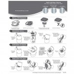 Litter Genie Plus Ultimate Cat Litter Odor Control Pail - Silver