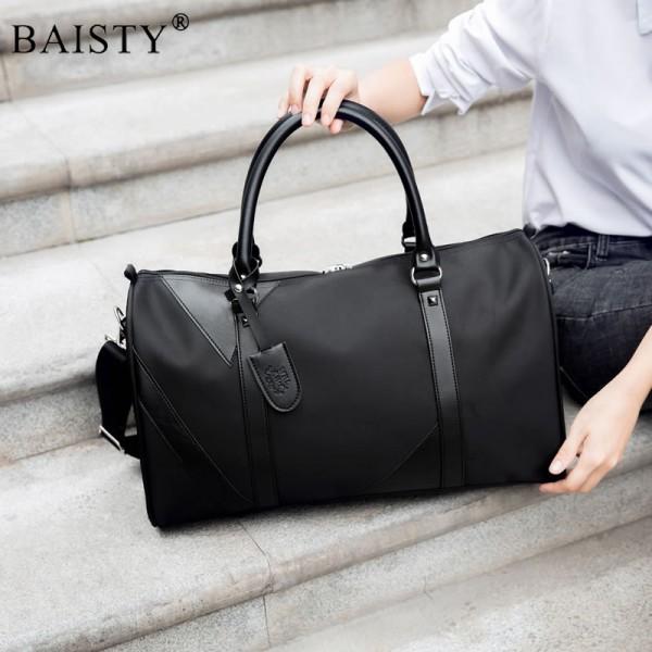 Men Travel bags Fashion Nylon Big Travel Handbag Folding Trip Bag Large Capacity Luggage Travel Duffle Bags Men Business Handbag