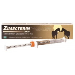 Merial Zimecterin Gold Dewormer Paste for Horses, 7.35gm