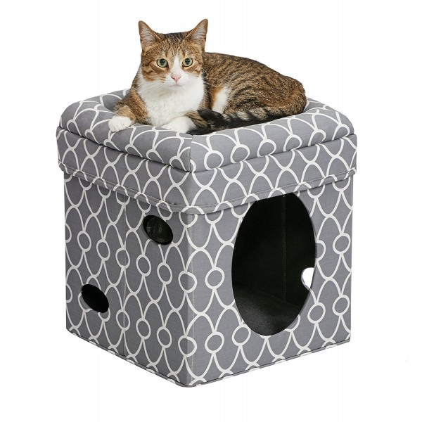 MidWest Curious Cat Cube, Cat House/Cat Condo