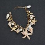 MissCyCy 2017 New Fashion Tidal Marine Shells And Starfish Bohemian Charm Bracelet For Women Jewelry