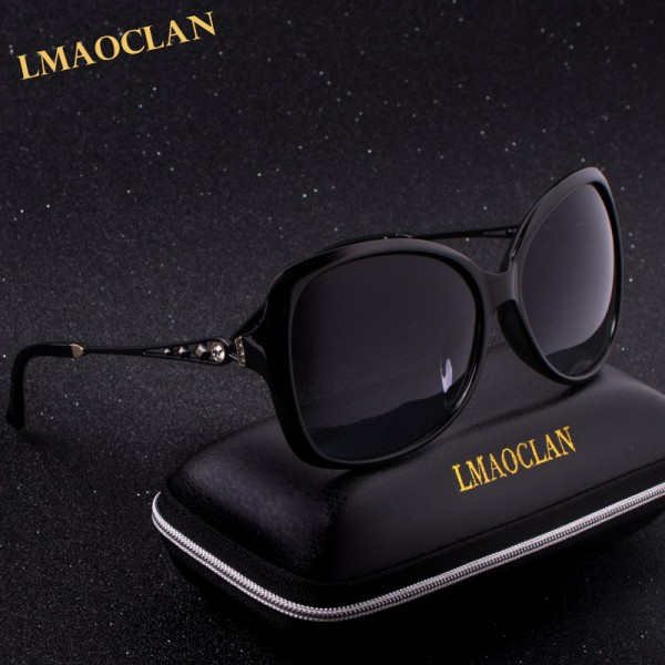 NEW LMAOCLAN Brand Design Luxury Polarized Sunglasses Women Ladies Gradient Sun Glasses Female Vintage oversized Eyewear UV400