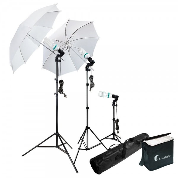 Photography Photo Portrait Studio 600W Day Light Umbrella Continuous Lighting Kit by LimoStudio, LMS103