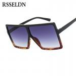 RSSELDN Oversized Sunglasses Women Big Frame Square Sun Glasses Men Brand Designer 2018 New Vintage Gradient Shades Eyewear 6547