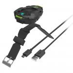 Re-Fuel Wireless Bluetooth Speaker - Ultra Portable Wearable Wrist Outdoor Audio Speaker - Shockproof and Waterproof Speaker (Black)