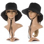 SIGGI Womens Summer Flap Cover Cap Cotton UPF 50+ Sun Shade Hat With Neck Cord