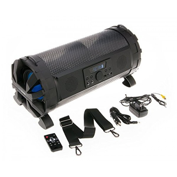 Soundstream Street Hopper 6 Speaker with Light Show 2-Channel Home Theater Stereo System