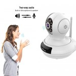 WiFi Camera, LeFun Wireless Surveillance Camera IP Camera Nanny Cam with Pan Tilt Zoom Motion Detect Two Way Audio Night Vision Remote Control 2.4G WiFi for Baby Monitor