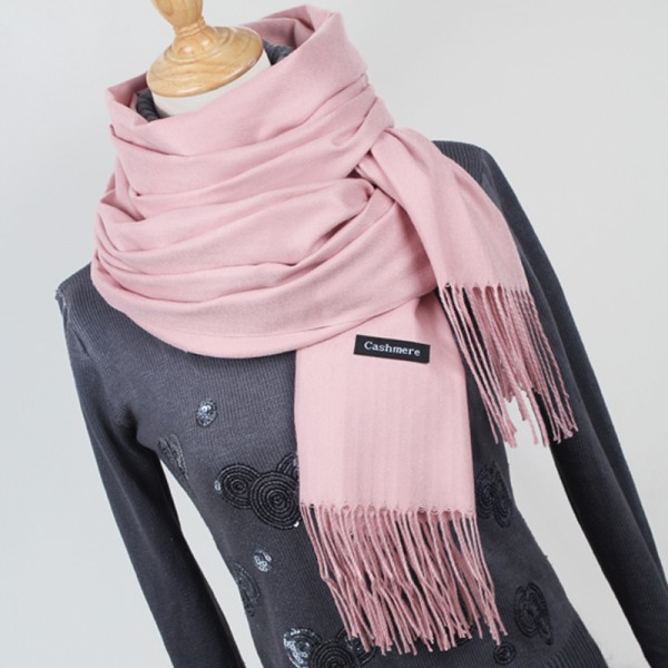 Women solid color cashmere scarves with tassel lady winter thick warm scarf high quality female shawl hot sale YR001