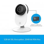YI 1080p Home Camera, Indoor Wireless IP Security Surveillance System with Night Vision for Home/Office/Baby/Pet Monitor with iOS, Android App - Cloud Service Available