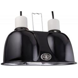 Zoo Med Labs Mini Combo Deep Dome Dual Lamp Fixture,Black