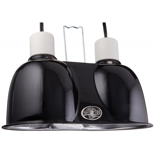 Zoo Med Labs Mini Combo Deep Dome Dual Lamp Fixture,Black