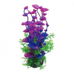 uxcell Artificial Plants Aquarium Aquascaping Tank Decor 20cm High Red Green